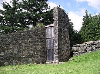 Llyn Celyn - Tryweryn memorial chapel at Llyn Celyn