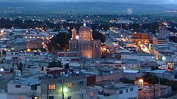 An evening view of Tulancingo, from the Cerro del Tezontle