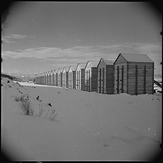 World War II Valor in the Pacific National Monument - Granaries at Tule Lake Unit, Modoc County, California.