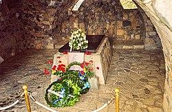Ο τάφος του Αρχιεπισκόπου Μακαρίου