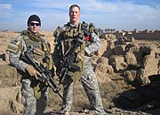 Two 19th Group Special Forces Soldiers in Babil Province Iraq