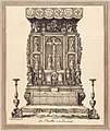 Two altarpieces Silverwork masterpieces from Wroclaw Cathedral Exhibition 2019 P22 altar drawing from 1827.jpg