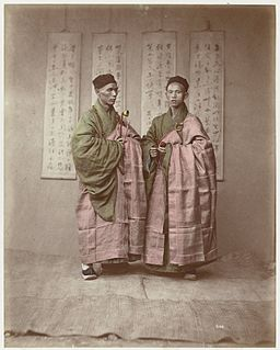 Two monks with rosary by Raimund von Stillfried