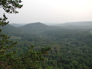 Driftless Area - Typical terrain of The Driftless Area as viewed from Wildcat Mountain State Park in Vernon County, Wisconsin