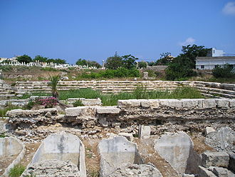 Tyre, Lebanon - Rectangular theatre at Al Mina excavation site