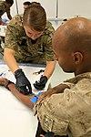 U.S. Marines and Sailors donate blood in Helmand Province 140814-M-EN264-101.jpg