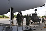 U.S. Soldiers with 2nd Squadron, 6th Cavalry Regiment, 25th Combat Aviation Brigade, load an OH-58D Kiowa Warrior into an Air Force C-17 Globemaster III during a static load training session at Joint Base Pearl 130607-A-UG106-371.jpg