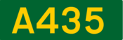 A435 road shield