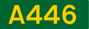 A446 road shield