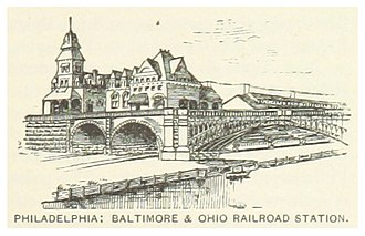 Baltimore & Ohio Railroad station, Philadelphia - Illustration from 1891