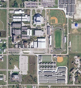 Charlotte High School (Punta Gorda, Florida) - Aerial image of Charlotte High School