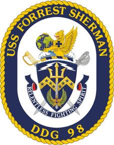 USS Forrest Sherman DDG-98 Crest