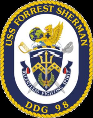 USS Forrest Sherman (DDG-98) - Image: USS Forrest Sherman DDG 98 Crest