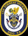USS Forrest Sherman DDG-98 Crest.png
