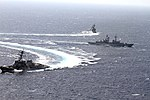 USS Hue City (CG-66), Luigi Durand De La Penne (D 560), and USS Farragut (DDG-99) maneuvering during passing exercise 120710-N-ZZ999-007.jpg