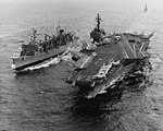 USS Sacramento (AOE-1) refuels USS Constellation (CVA-64) in the South China Sea on 22 August 1974.jpg