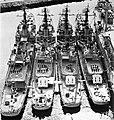 USS Shelton (DD-790), USS Blue (DD-744), USS Collett (DD-730) and USS Lyman K. Swenson (DD-729) in 1962.jpg