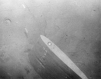 USS Thresher (SSN-593) - Image: USS Thresher (SSN 593) rudder sunk