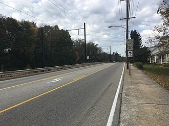 Special routes of U.S. Route 30 - Westbound US 30 Business in Downingtown