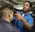 US Navy 020410-N-3653A-001 USS Washington - barber shop.jpg