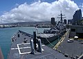 US Navy 030609-N-5376G-867 The guided missile frigate USS Reuben James (FFG 57) and the guided missile destroyer USS Hopper (DDG 70) sit pierside.jpg