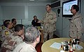 US Navy 070108-N-9268E-011 Capt. Chris Noble, Commander, Task Group (CTG) 158.1, explains the details of an operations brief to senior Iraqi officers visiting the CTG 158.1 area of responsibility.jpg