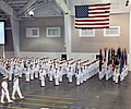 US Navy 080711-N-8848T-202 Vice Adm. Mark E. Ferguson III, Chief of Naval Personnel and Deputy Chief of Naval Operations for Manpower, Personnel, Training and Education, salutes as he.jpg