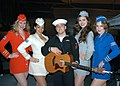 US Navy 081109-N-6043G-209 Machinist's Mate Fireman Tommy Stanley meets the USO Liberty Belles after performing outside the newly renovated Intrepid Sea, Air ^ Space Museum in Manhattan.jpg