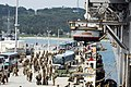 US Navy 090407-N-9418A-004 Marines assigned to the 31st Marine Expeditionary Unit (31st MEU) arrive on the pier to board the amphibious assault ship USS Essex (LHD-2).jpg