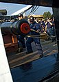 US Navy 090819-N-0167W-067 Master Gun Team assigned to the USS Constitution demonstrates the proper loading and firing of a long gun to the chief selects attending Old Ironsides' 2009 Chief Petty Officer Heritage Week.jpg