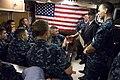 US Navy 090923-N-5549O-030 Secretary of the Navy (SECNAV) the Honorable Ray Mabus addresses Sailors aboard the Virginia-class attack submarine USS New Hampshire (SSN 778).jpg