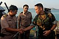 US Navy 100209-N-8335D-046 Capt. Elmer Nagma shakes hands with Royal Thai Navy Lt. Cmdr. Sajja Intagosum.jpg