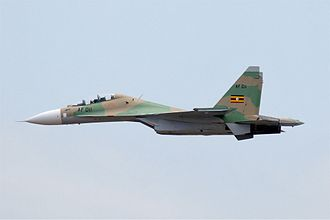 Sukhoi Su-30MKK - Image: Uganda People's Defence Force Air Wing Sukhoi Su 30MK2 MTI 2