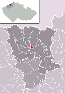 Location of Újezdeček within تپلیتسه بؤلگه‌سی‌
