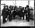 Uniformed men possibly from a military band on board the ship WELLINGTON, 1920-1935 (8159579262).jpg
