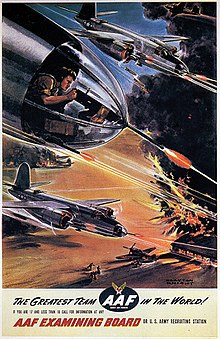 army air forces recruiting poster featuring b-26 marauders