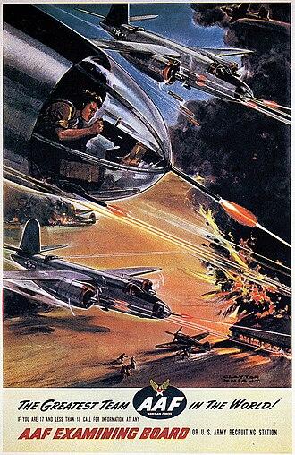 Martin B-26 Marauder - Army Air Forces recruiting poster featuring B-26 Marauders.