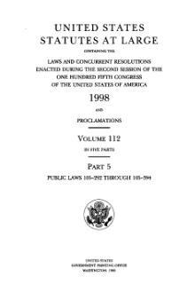 United States Statutes at Large Volume 112 Part 5.djvu