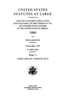 United States Statutes at Large Volume 113 Part 1.djvu