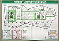 Universitätsbibliothek Freiburg, Flucht- und Rettungsplan des 1. Obergeschosses.jpg