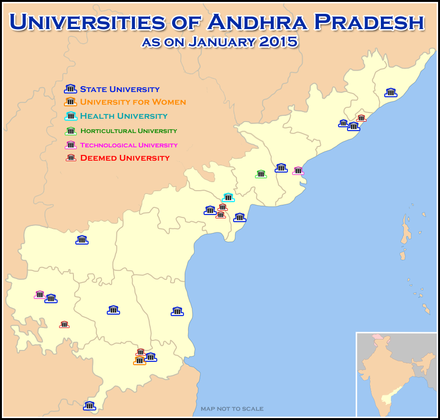 Map of universities in Andhra Pradesh Universities Map of Andhra Pradesh.png