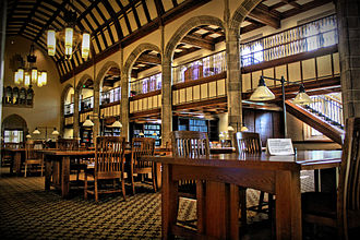 Notre Dame Law School - The reading room of the Kresge Law Library, in Biolchini Hall