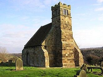 Upleatham - Image: Upleatham Church(Hugh Mortimer)Dec 2003