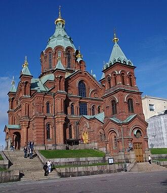 Finnish Orthodox Church - 19th century Uspenski Cathedral in Helsinki.