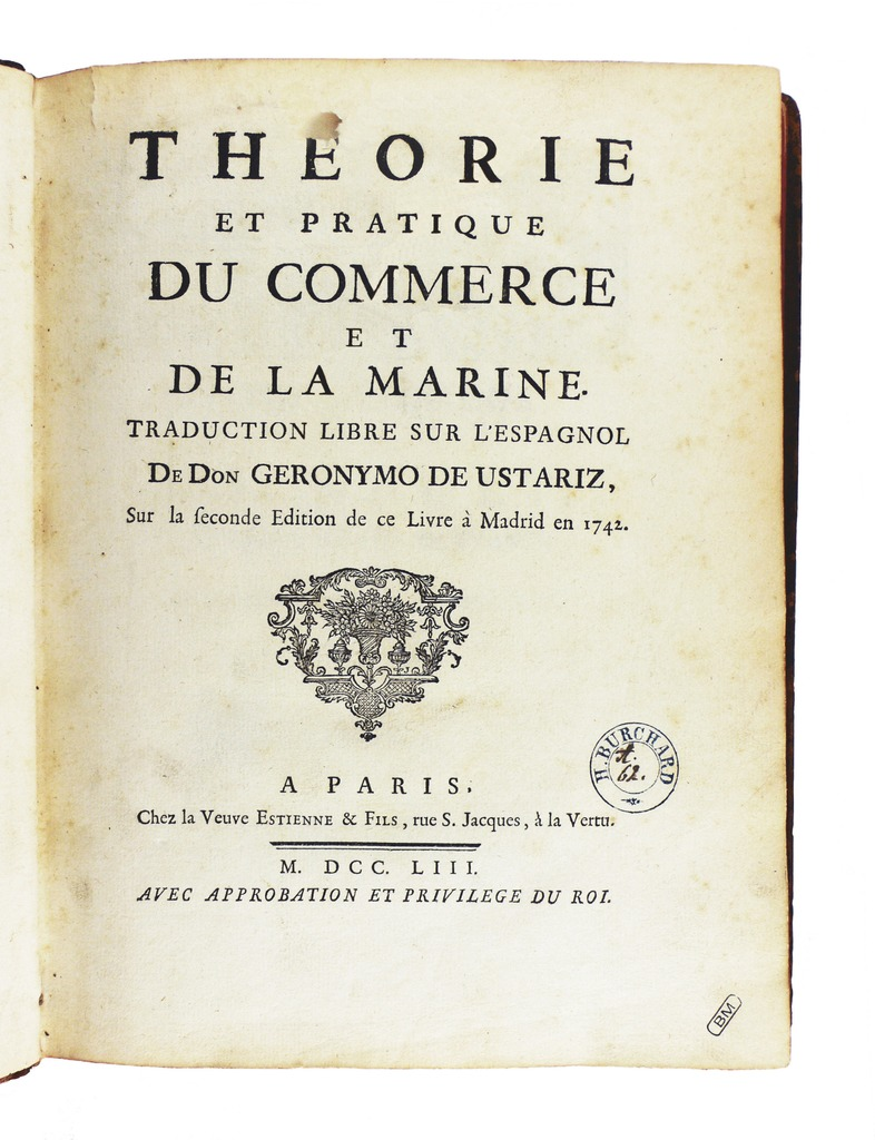 Archivo ustariz th orie et pratique du commerce 1753 for C du commerce