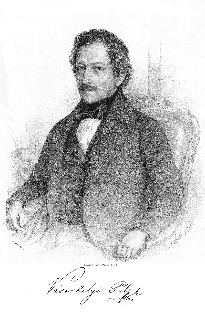 Barabás Miklós: Vásárhelyi Pál (litográfia)