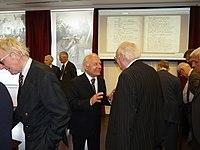 Vékás Lajos professzor Madách Imre Az ember tragédiája első kiadásának 150. évfordulója alkalmából rendezett kiállítás megnyitóján.JPG