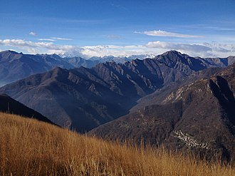 Val Grande National Park - Image: Val grande cicogna pizzo proman from pizzo pernice