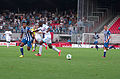 Valais Cup 2013 - OM-FC Porto 13-07-2013 - Alex Sandro, Rod Fanni et Marat Izmaylov.jpg