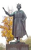 Statue af kong Valdemar i Ringsted